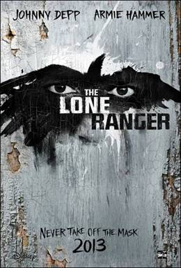 The Lone Ranger Disney Movie Poster Johnny Depp Tonto
