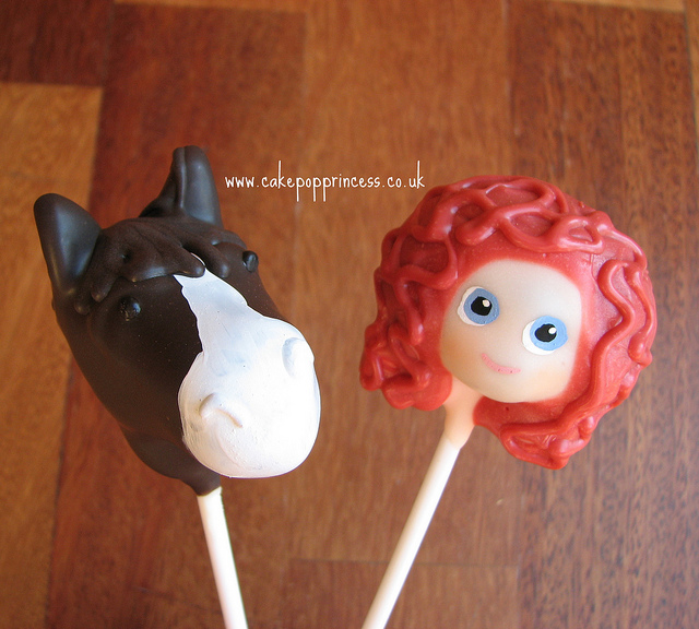 "Angus and Princess Merida Disney ""BRAVE"" Cake Pops"
