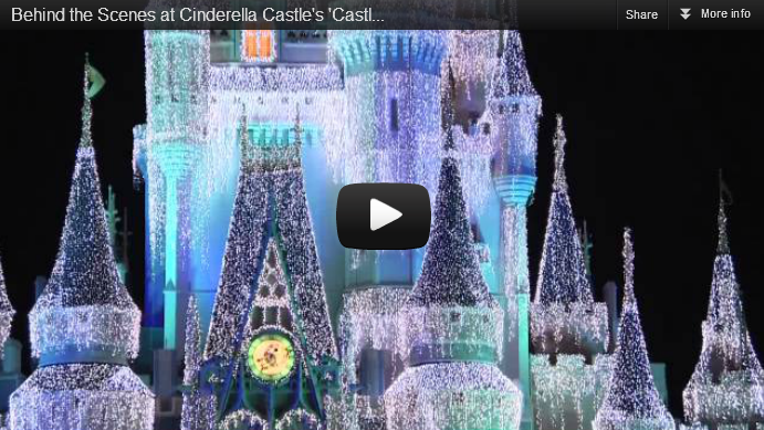 Behind the Scenes at Cinderella's 'Castle Dream Lights' in the Magic
