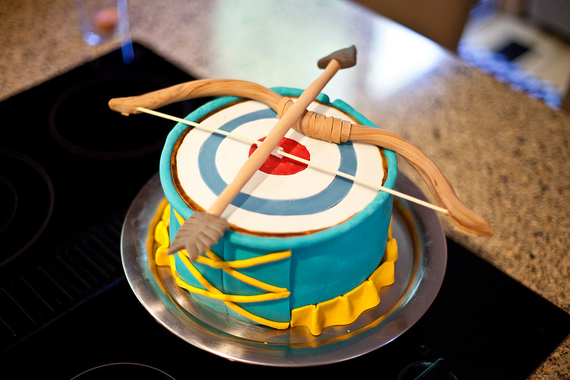 "Disney's ""BRAVE"" Princess Merida Archery Cake"