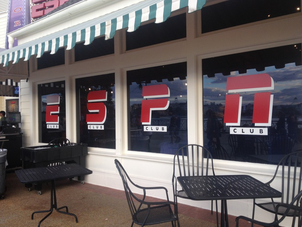 Disney Boardwalk ESPN Club Restaurant