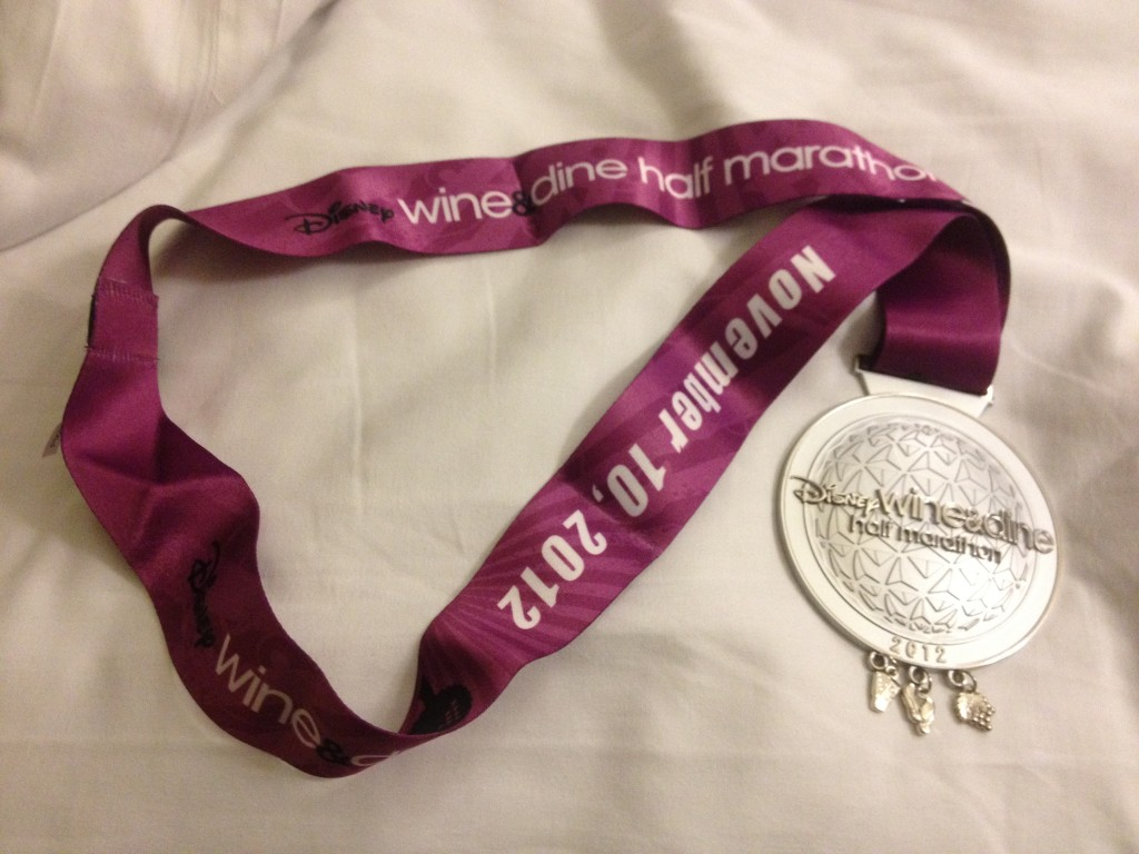 2012 disney wine and dine half marathon medal
