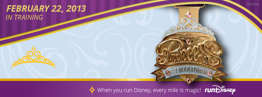 Two runDisney Princess Half Marathon Facebook Profile Cover Photos