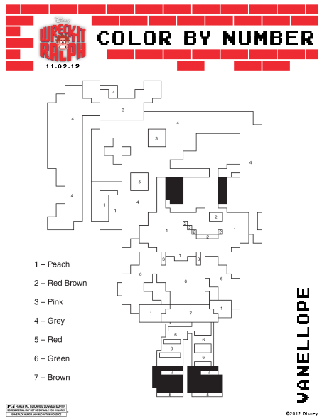 Downloadable Disney Wreck It Ralph Coloring And Activity