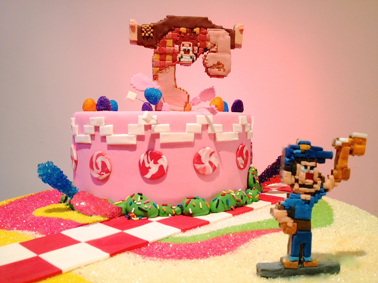 This 8 Bit Disney Wreck It Ralph Cake Is Sure To Give