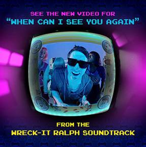 when can I see you again wreck it ralph music video