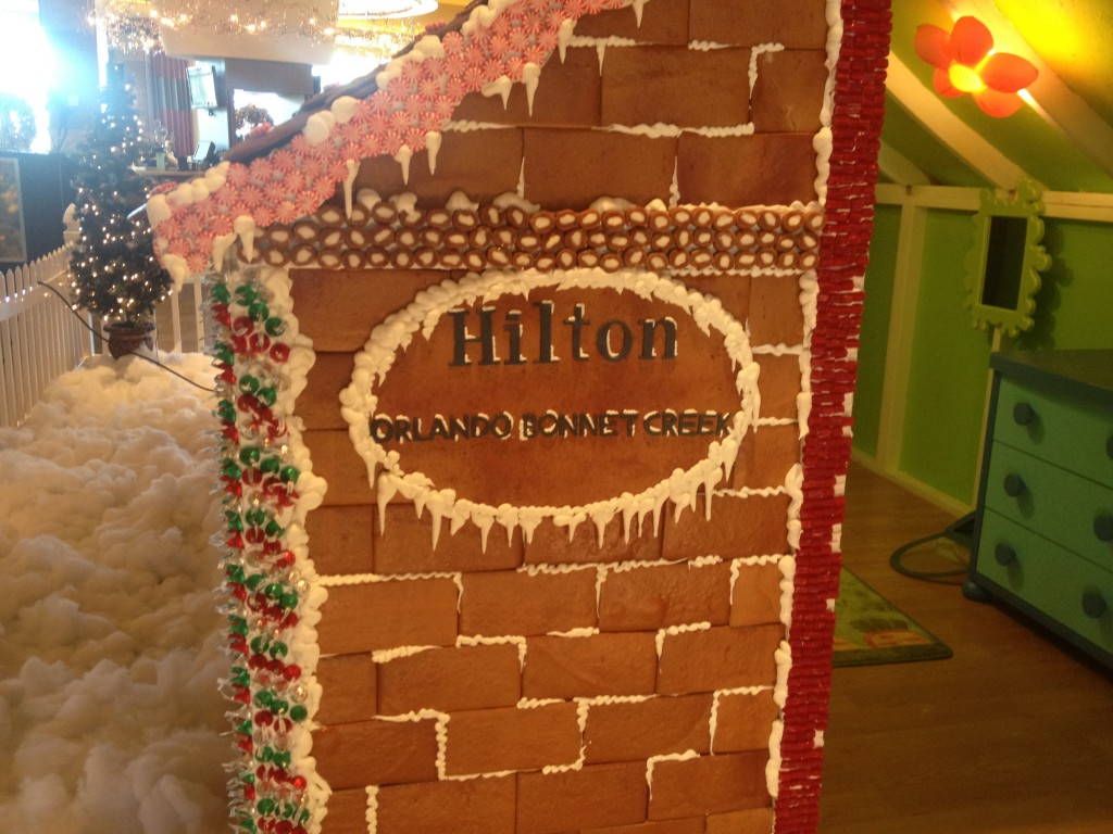 hilton bonnet creek christmas holiday gingerbread house
