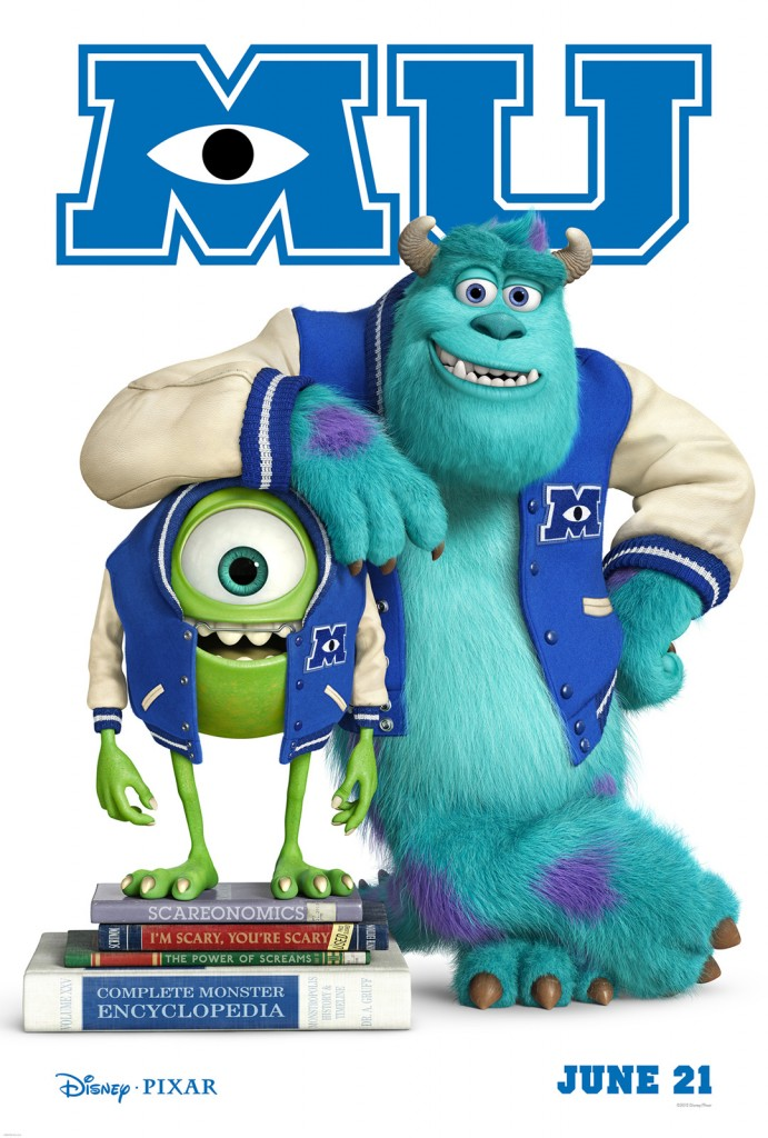 Disney Unveils the Pixar Movie Poster for Monsters University