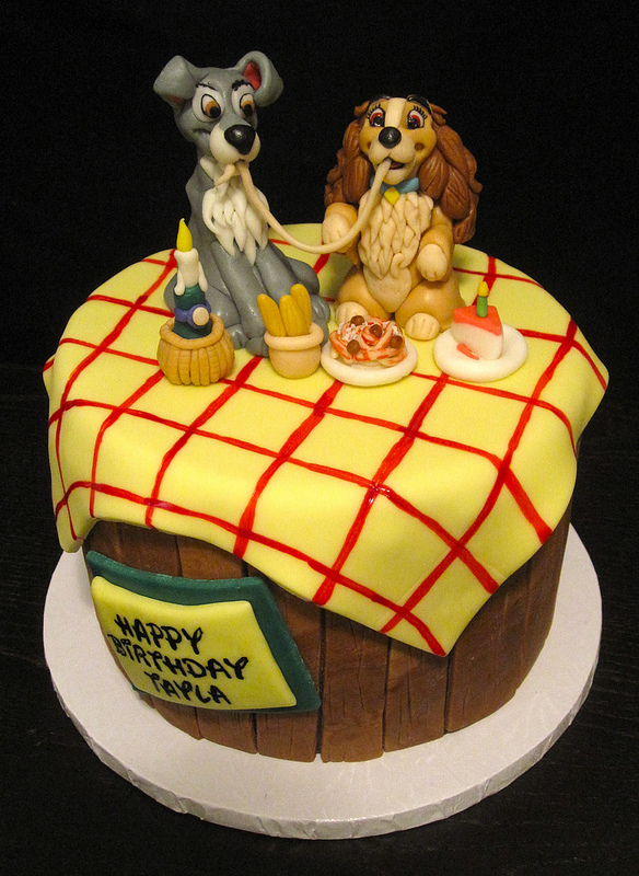 Spaghetti Scene Lady and the Tramp Disney Cake