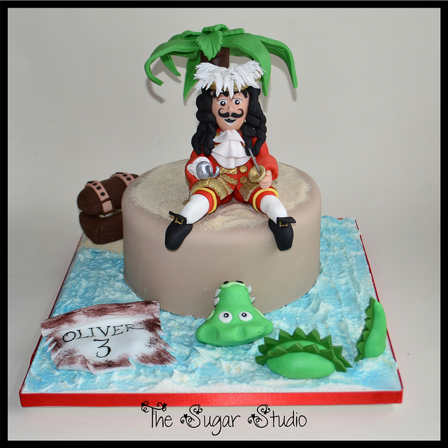 Disney Captain Hook and Tick Tock Crocodile Birthday Cake