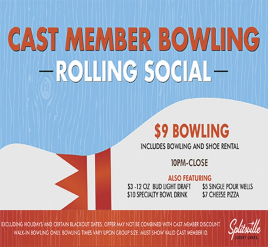 Pricing Structure: New Pricing Structure At Splitsville Luxury Lanes At