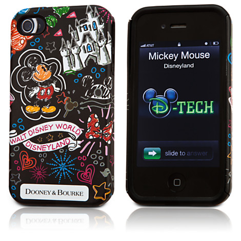 Disney Dooney and Bourke Sketch iPhone Case black