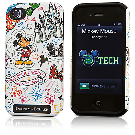 Disney Dooney and Bourke Sketch iPhone Case white