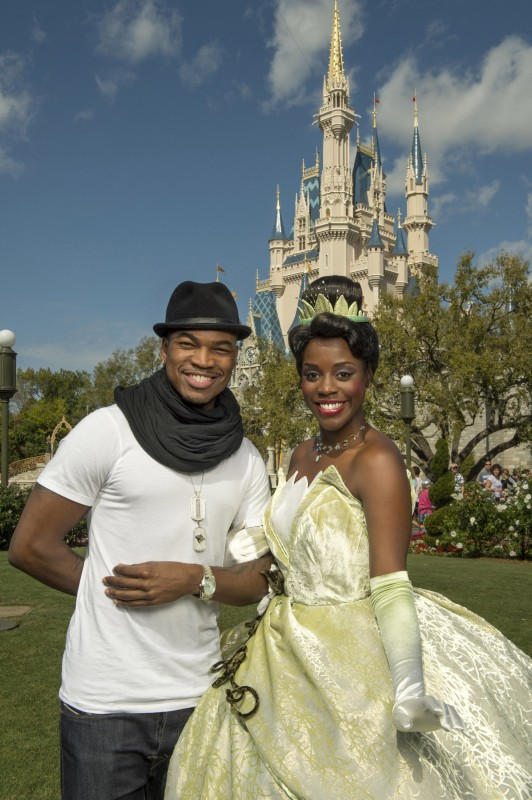Ne-Yo Spotted with Princess Tiana in the Magic Kingdom