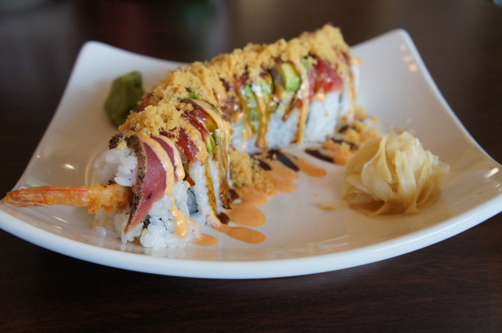 Splitsville Orlando Bowling Alley Downtown Disney Super Tuna Sushi Roll