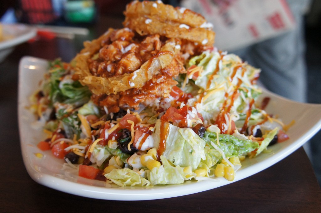 Splitsville Orlando Bowling Alley Downtown Disney BBQ Chicken Salad