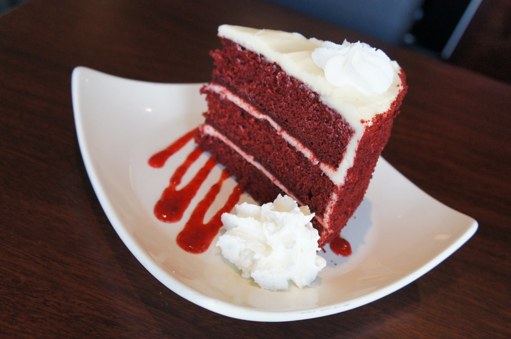 Splitsville Orlando Dessert Giant Red Velvet Cake Downtown Disney