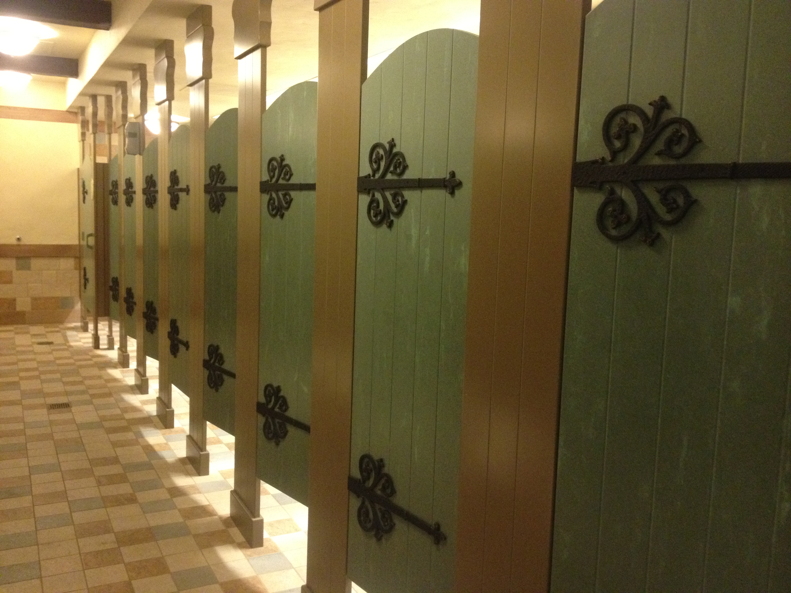 Tour of the 8 million new fantasyland tangled bathroom for Bathroom photos of ladies