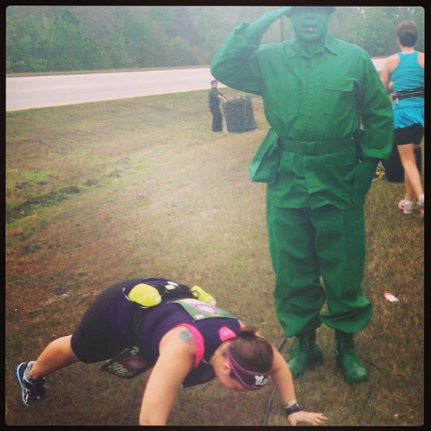 disney princess half marathon push ups green army men
