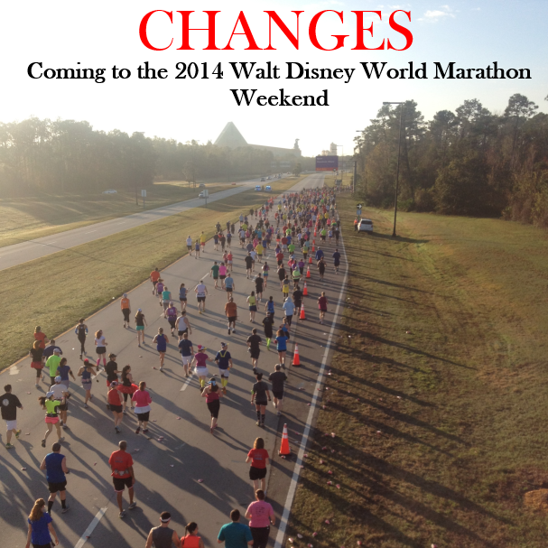 2014 Walt Disney World Marathon Weekend Changes