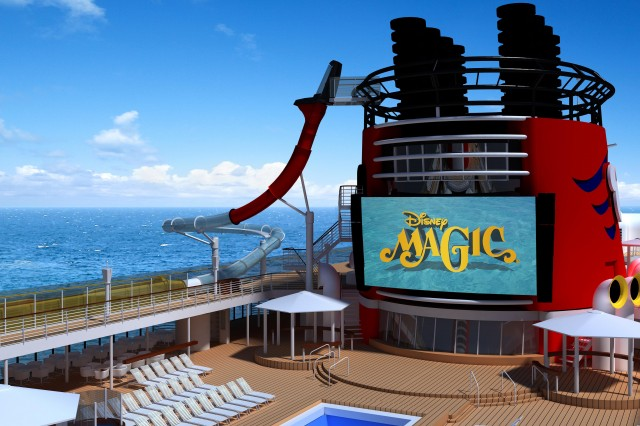 Disney Magic to Get Three Story Body Slide that Extends Over the Edge of the Cruise Ship {AquaDunk}