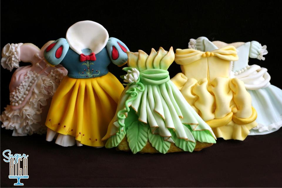 Disney Princess Gown Cookies