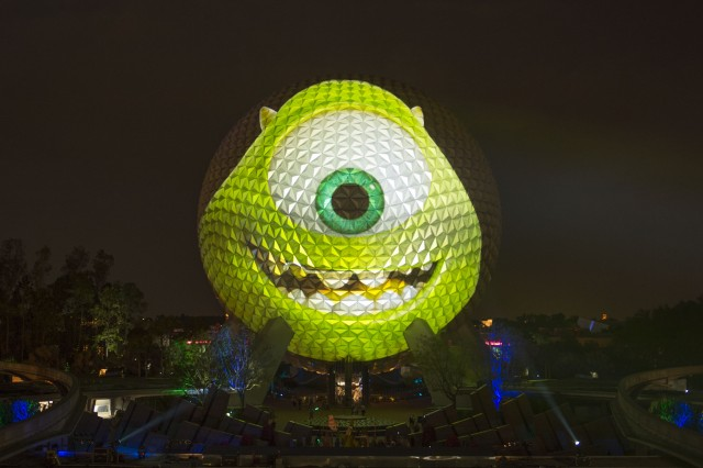 Epcot Spaceship Earth Mike Wazowski Monsters University Summer