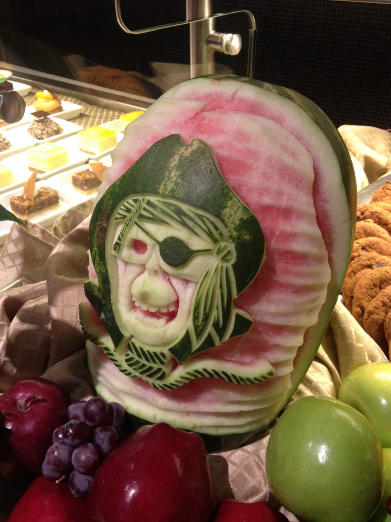 Pirates of the Caribbean Watermelon Sculpture on the Disney Dream
