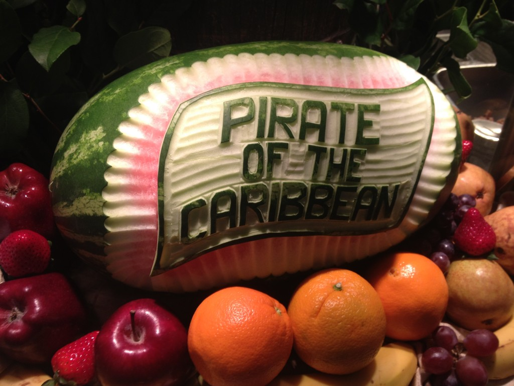 Pirates of the Caribbean Watermelon Sculptures on the Disney Dream