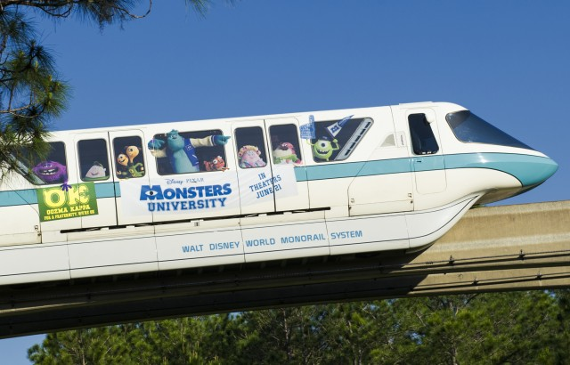 "Have You Seen the New Disney Pixar ""Monsters University"" Monorail Yet?"