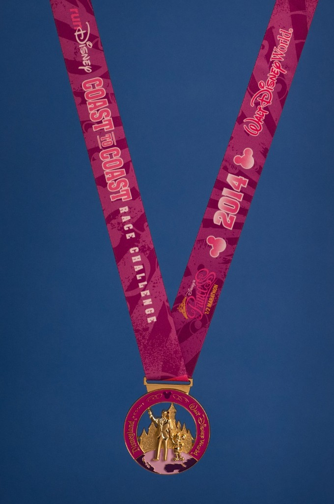 runDisney Adds New Pink Coast to Coast Medal for 2014 Disney Princess and Tink Half Marathons