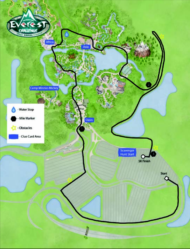 2013 runDisney Expedition Everest Challenge 5K Race Course Map Shows Changes