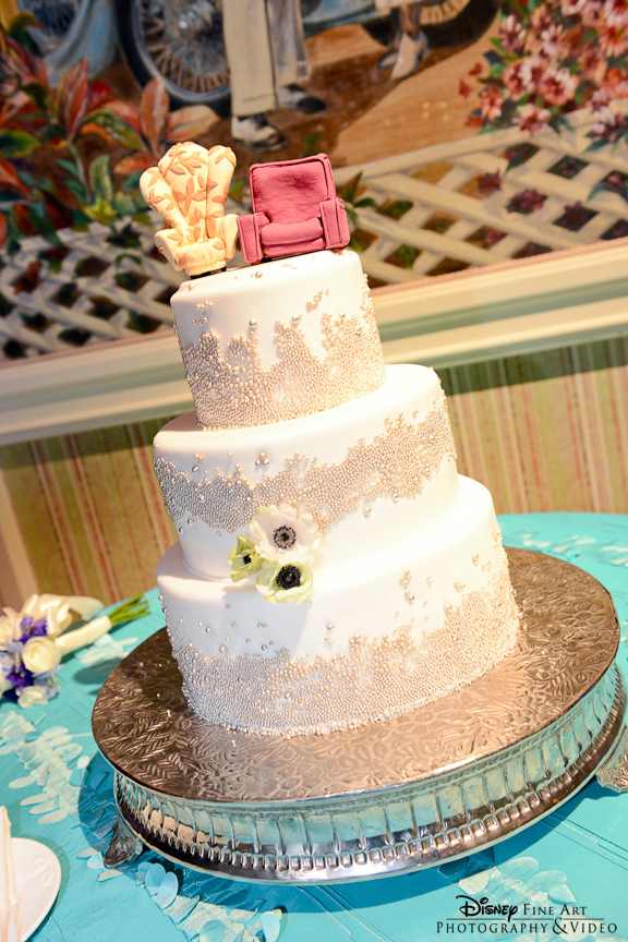 "{Carl and Ellie} ""UP"" Chairs Disney Wedding Cake"