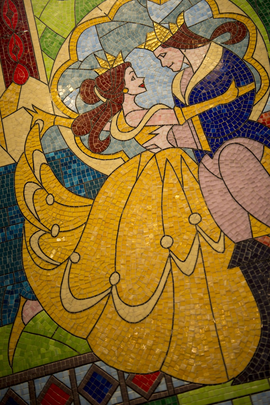 Disney Belle and Beast Prince Mural Be Our Guest Restaurant