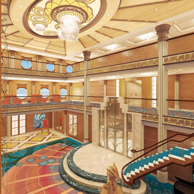 Atrium Concept Art Released for the Reimagining of the Disney Magic Cruise Ship