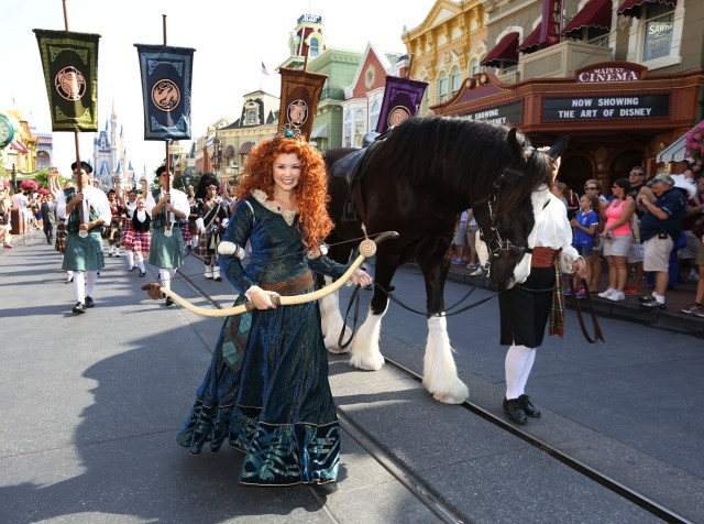 Disney Princess Merida and Angus Magic Kingdom Main Street USA