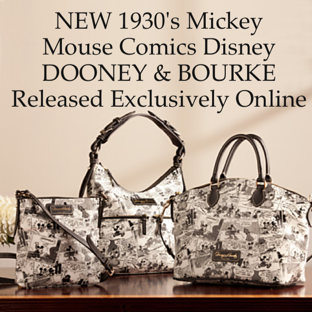 NEW 1930's Mickey Mouse Comics Disney Dooney and Bourke Bags {Online Exclusive}