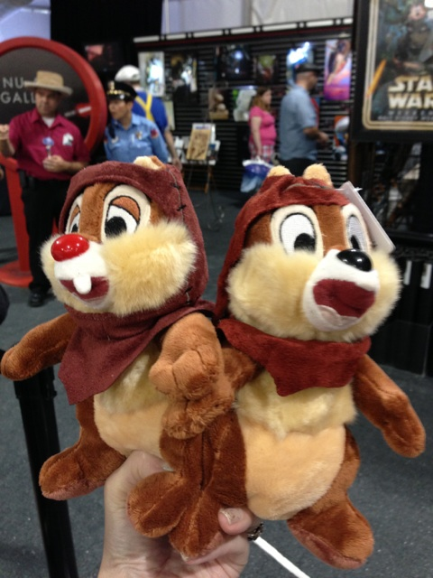 2013 Disney Star Wars Weekend Chip and Dale Ewok Plush