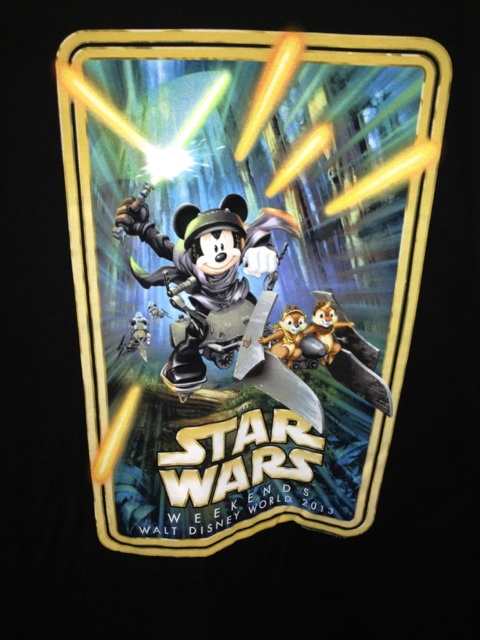 2013 Disney Star Wars Weekend logo shirt