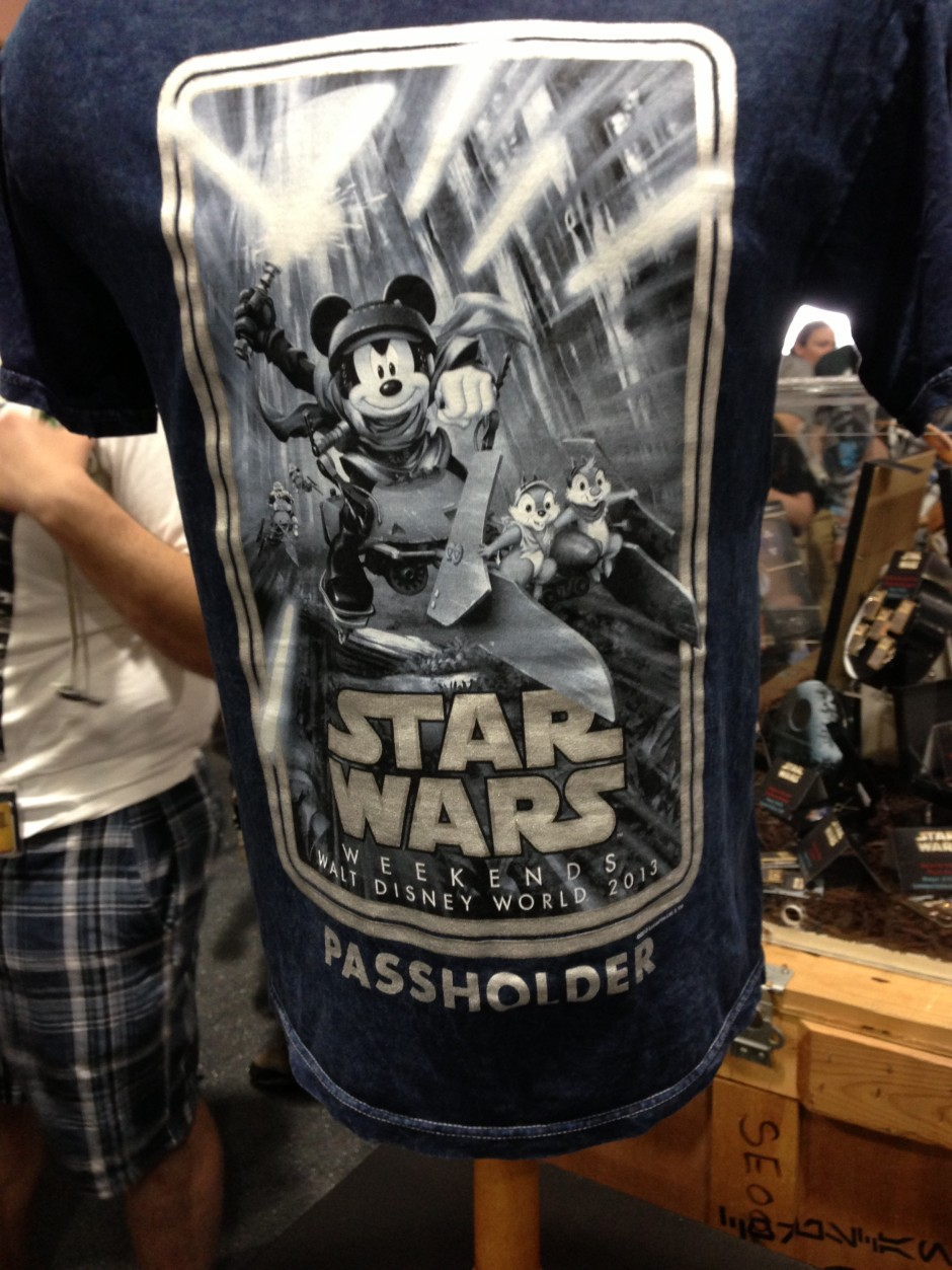 2013 Disney Star Wars Weekend Passholder T Shirt