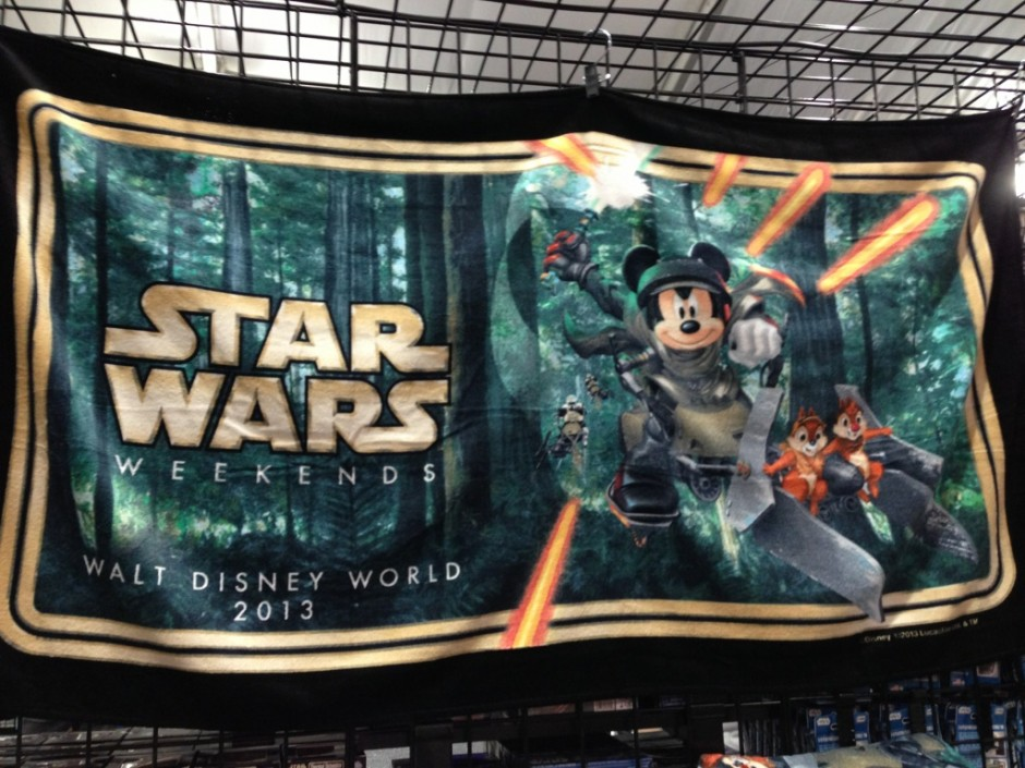 2013 Disney Star Wars Weekend logo beach towel PWP