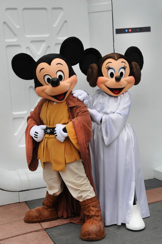 Mickey Jedi Minnie Leia Disney Star wars