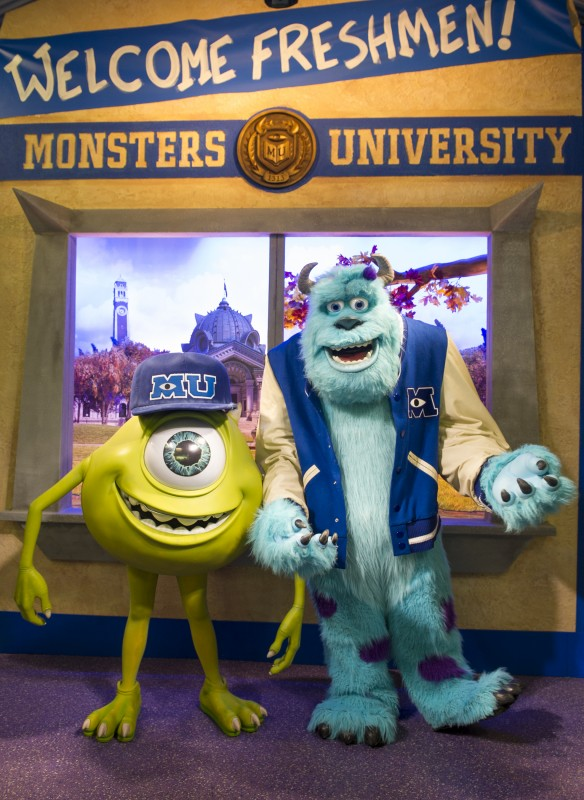 "Where Can I Find Mike and Sulley from ""Monsters University"" at the Disney Theme Parks?"