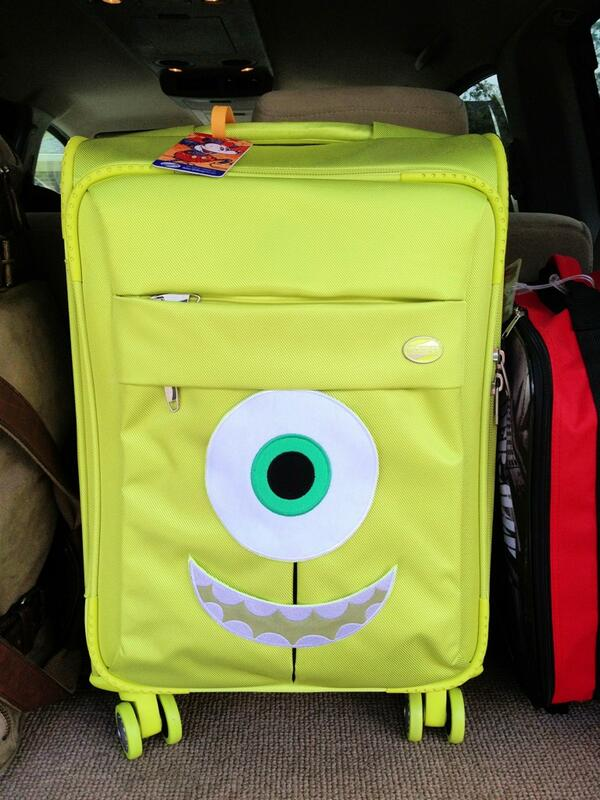 Monsters Inc Mike Wazowski Suitcase Green University Disney Social media Moms