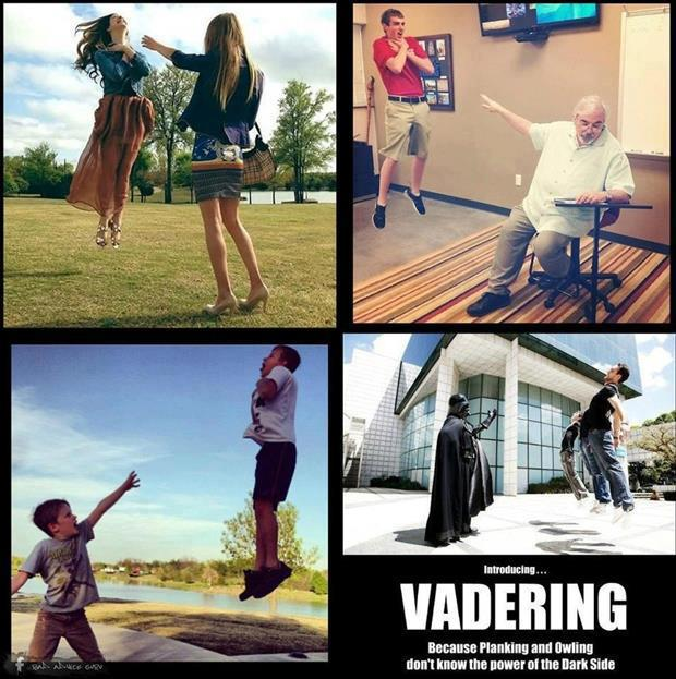 Vadering – Because Planking and Owling Don't Know the Power of the Dark Side