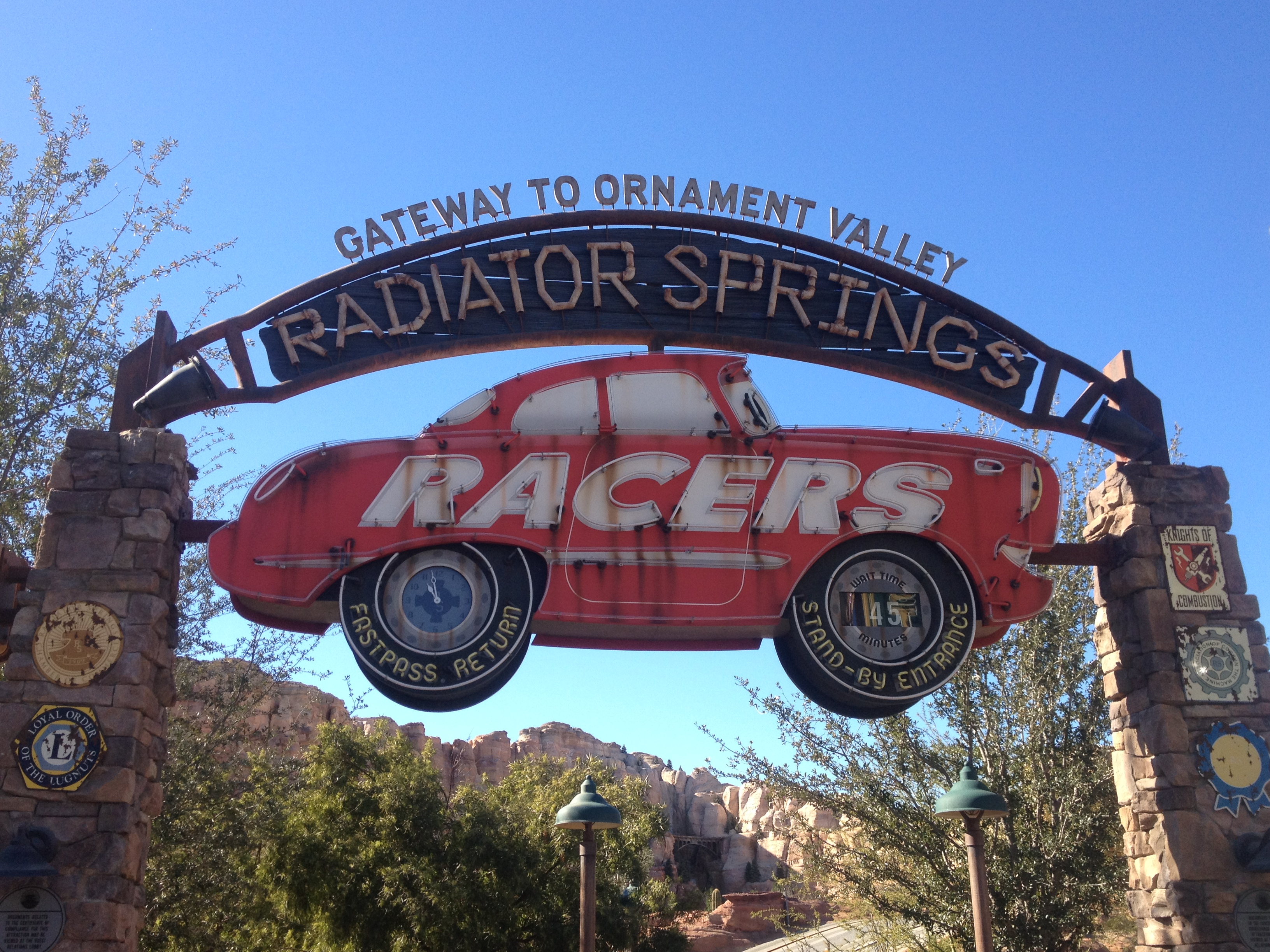 Cars Land Disney California Adventure disneyland radiator springs racers