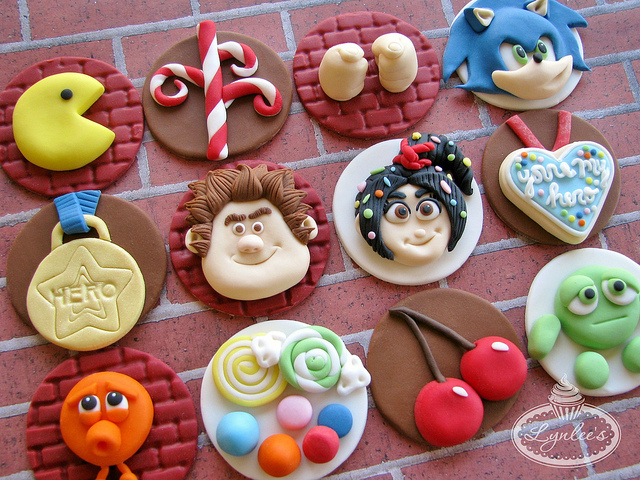 Disney Wreck it Ralph Cupcake Toppers
