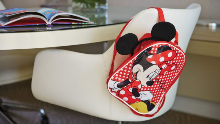 Four Seasons Resort Orlando Walt Disney World desk chair minnie mouse backpack
