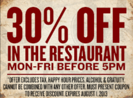 30% Off Coupon for House of Blues at Downtown Disney West Side {You're Welcome}