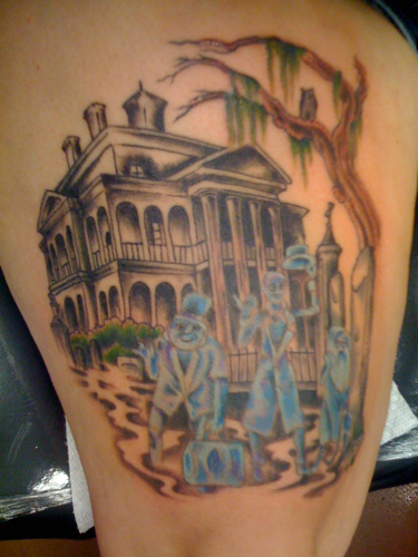 Haunted Mansion Tattoo Disney Hitchhiking Ghosts